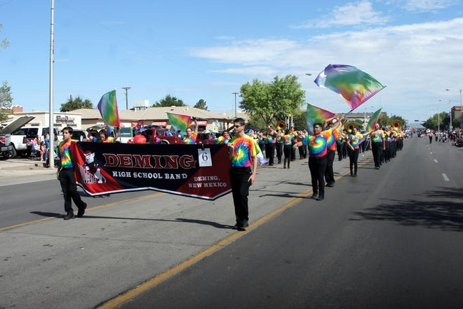 The Deming High School Wildcat Marching Band added color and pageantry to the parade, along with award-winning music.