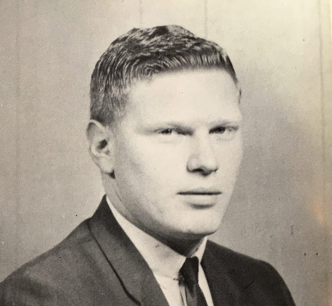 Terry Getz appears in his 1968 graduation photo from the Dallas Institute of Funeral Service. Getz in 2018 marks his 50th year as a funeral director in Las Cruces.