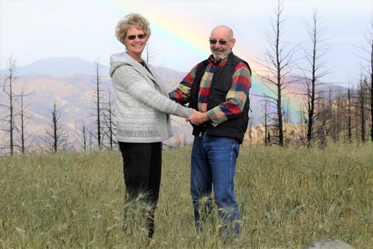 David and Deedee Tremblay pose for a shot on one of their excursions.
