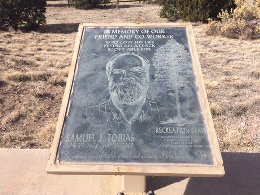 Sam Tobias memorial plaque