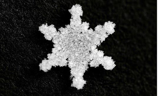 Tremblay not only photographs the moon, he also turns his lens on the tiniest snowflake, capturing its intricate delicacy.