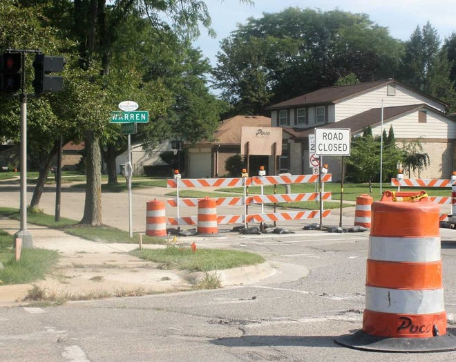 The closure of Canton Township's Burgundy St. will affect traffic flow around a nearby elementary school.