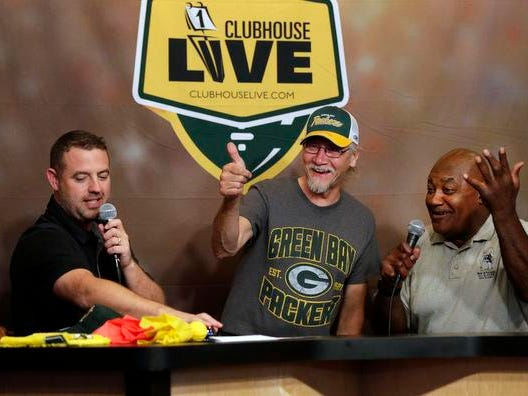 Clubhouse Live begins a 10th season as Brett Chrisotpherson, Ricardo Arguello and Jen Zettel welcome former Packer Johnnie Gray as their guest Monday, August 27, 2018, at the Red Lion Hotel Paper Valley in Appleton, Wis. Safety Josh Jones will join the Clubhouse as a co-host once the Packers begin play.