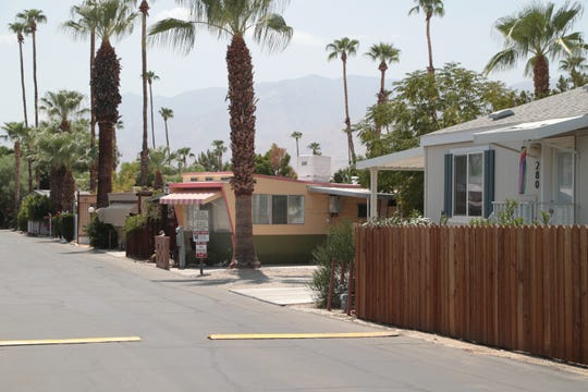 About half of the mobile homes in this community at 1441 Ramon Road in Palm Springs are registered with the city as rent controlled. Wednesday, August 22, 2018.