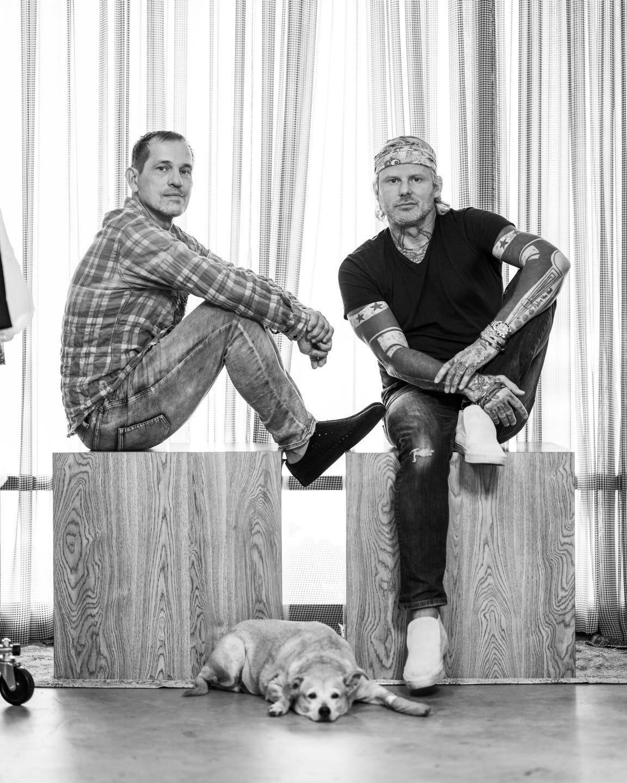 Loyd/Ford designers Stefan Loyd (left) and Franck Ford in their Palm Springs design studio