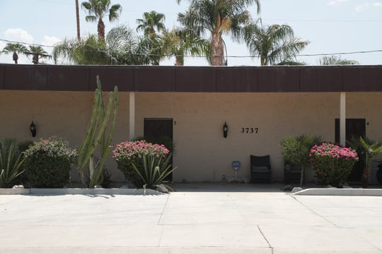 One of the remaining 20 rent-controlled apartments registered in Palm Springs is located in this building at 3737 E Calle De Carlos, Palm Springs, Calif., Wednesday, August 22, 2018.