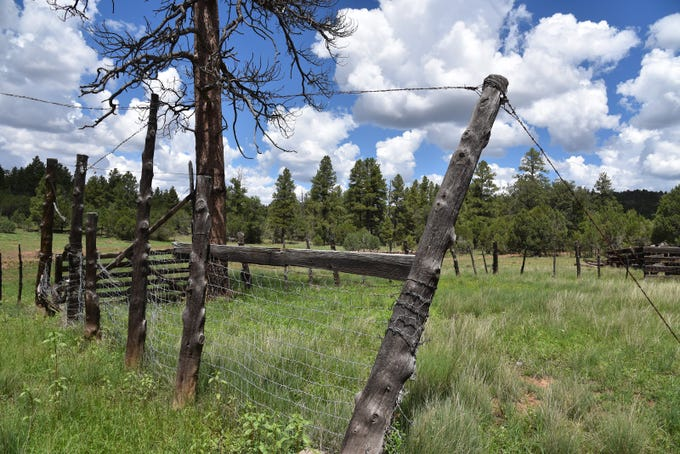 A rustic corral at Cow Tank on the Stage Station Loop hike