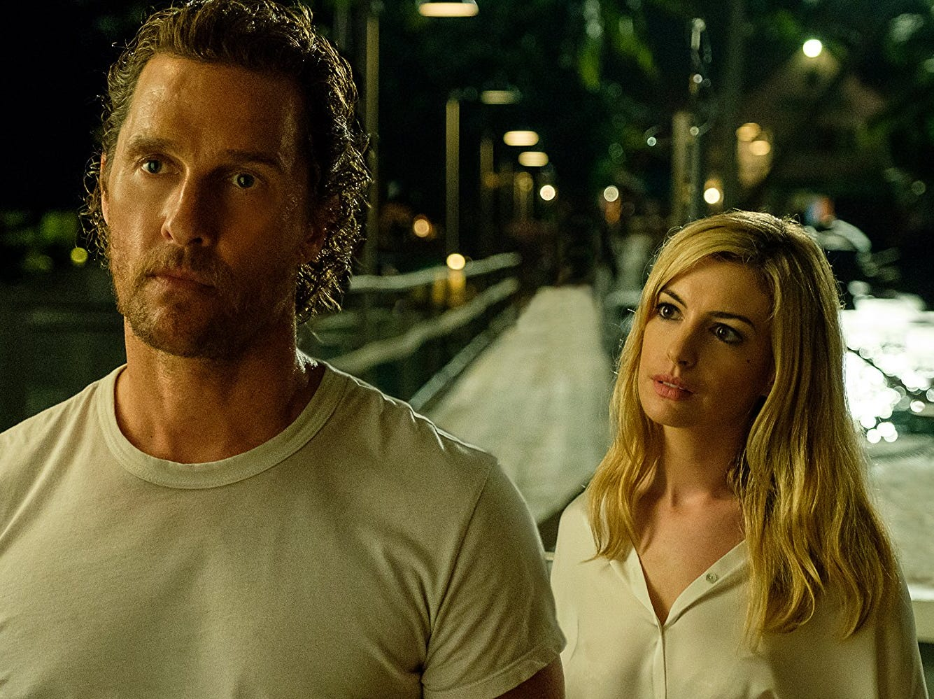 "Matthew McConaughey and Anne Hathaway in ""Serenity"" (Oct. 19)"