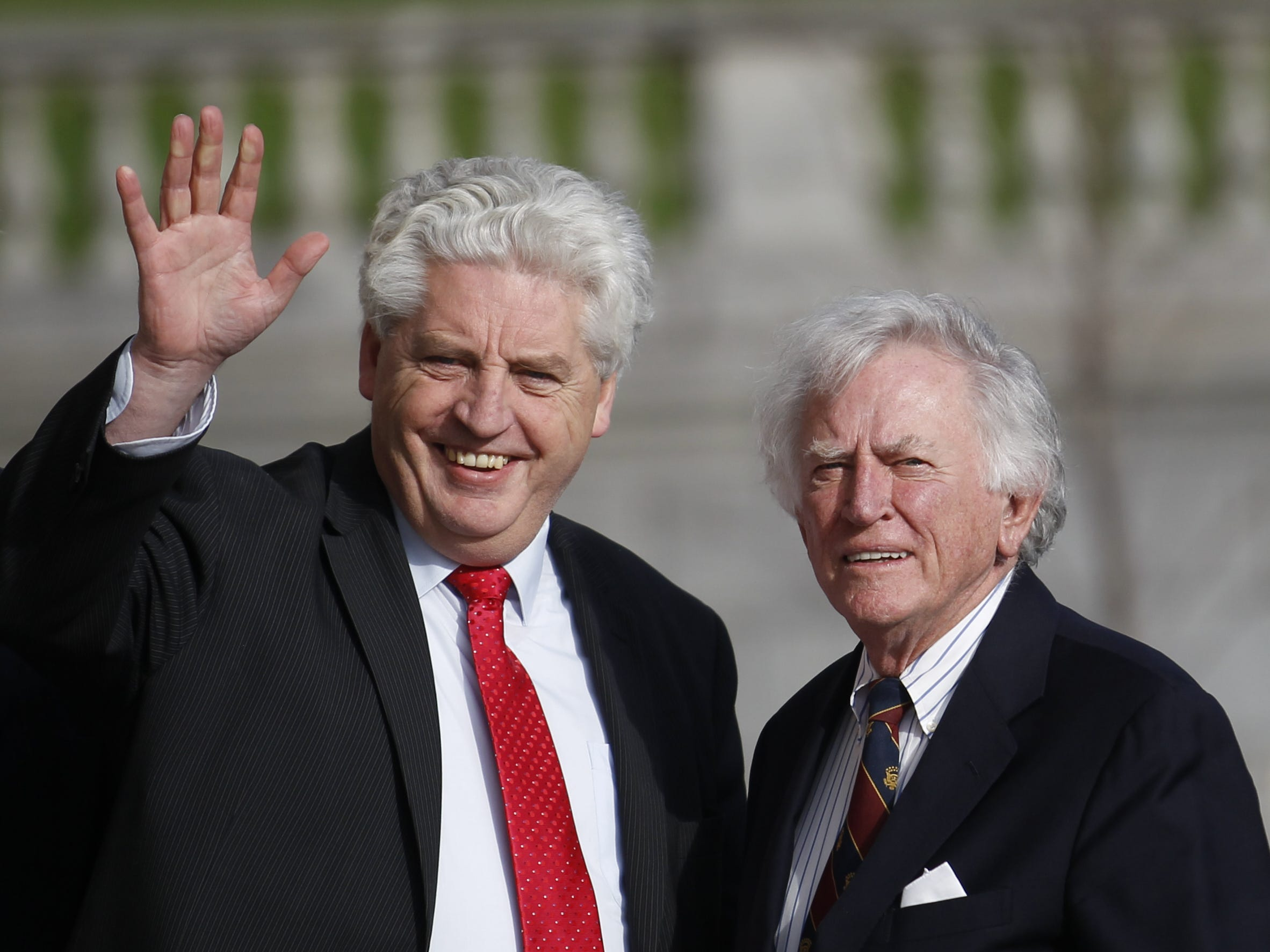 Gary Hart, right (Washington D.C.): Author and attorney. Professor at the University of Colorado at Denver. Formerly, U.S. Special Envoy for Northern Ireland, Co-chairman of the U.S. Commission on National Security for the 21st Century, and two-term United States Senator from Colorado.