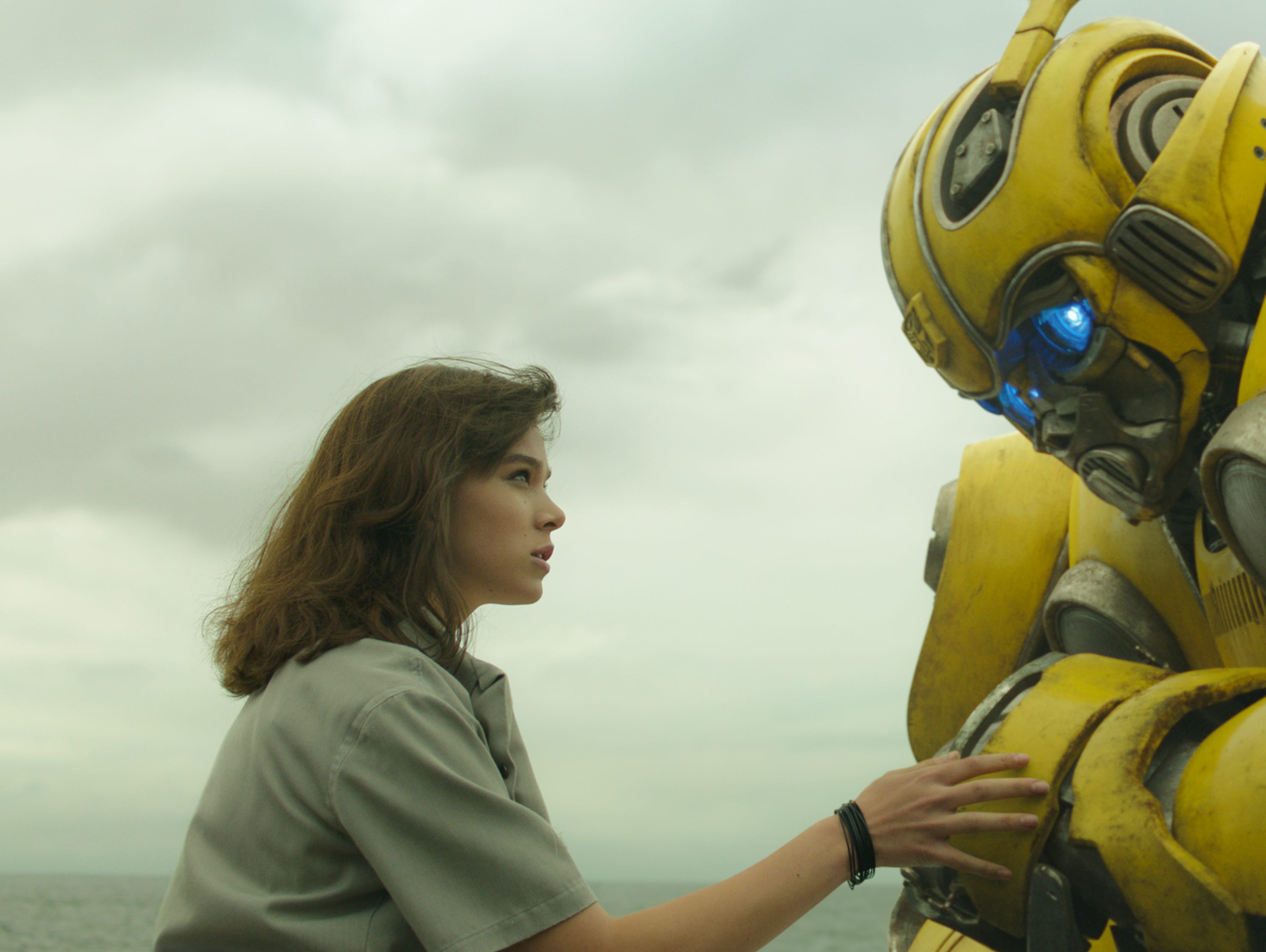 "Left to right: Hailee Steinfeld as Charlie and Bumblebee in ""Bumblebee"" from Paramount Pictures (Dec. 21)."