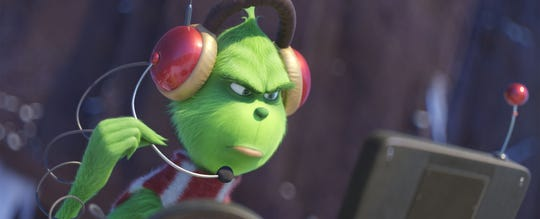 """For their eighth fully animated feature, Illumination and Universal Pictures present """"The Grinch,"""" based on Dr. Seuss' beloved holiday classic.  """"The Grinch"""" tells the story of a cynical grump who goes on a mission to steal Christmas, only to have his heart changed by a young girl's generous holiday spirit.  (Nov. 9)."""