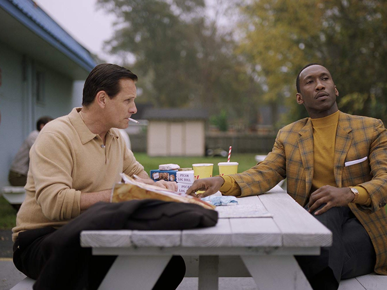 "(Left to Right) Viggo Mortensen and Mahershala Ali in ""Green Book"" (Nov. 21)."