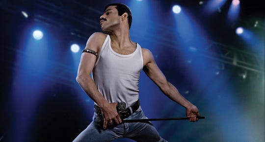 "Rami Malek as Freddie Mercury in 20th Century FOX's ""Bohemian Rhapsody"" (Nov. 2)."