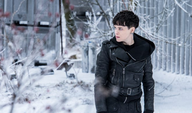 "Lisbeth Salander (Claire Foy) in Columbia Pictures' ""The Girl in the Spider's Web"" (Nov. 9)."