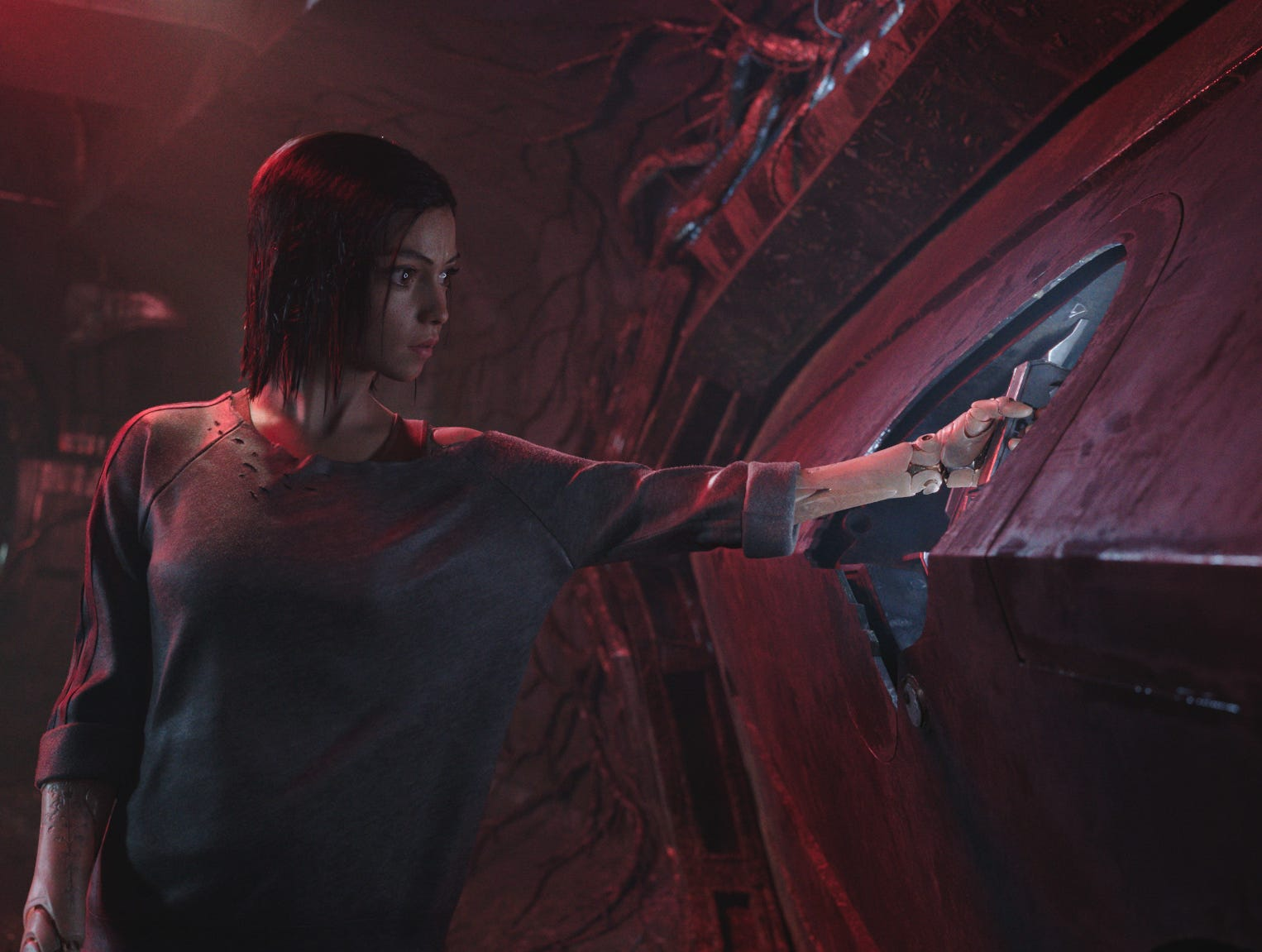 "Rosa Salazar stars as Alita in Twentieth Century Fox's ""Alita: Battle Angel"" (Dec. 21)."