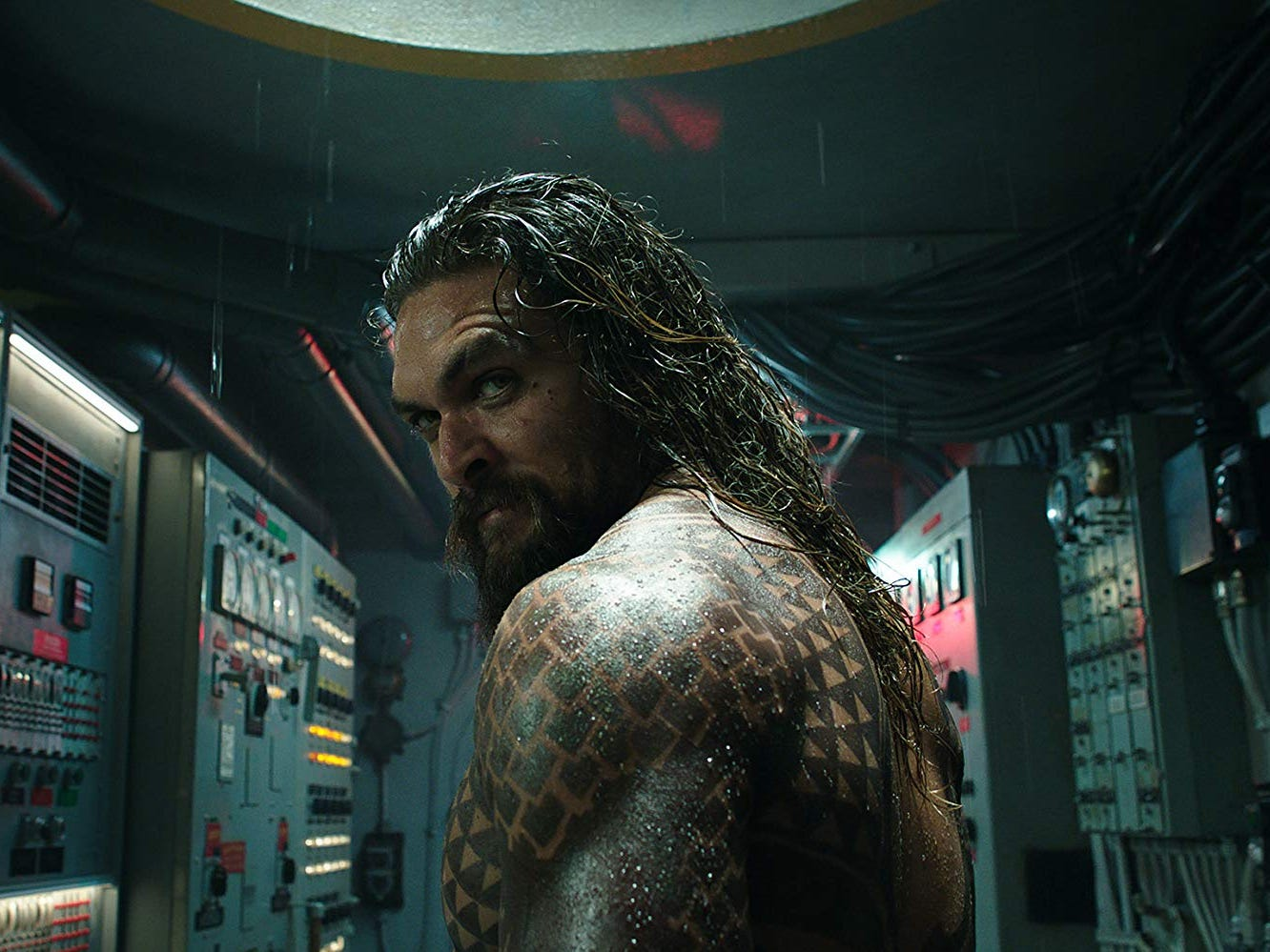 """Aquaman"" (PG-13): Once the clownfish of the Justice League, this half-human, half-Atlantean (Jason Momoa) dives deep into his origin underneath the sea. 