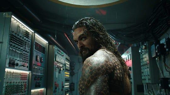 """Aquaman"" (PG-13): Once the clownfish of the Justice League, this half-human, half-Atlantean (Jason Momoa) dives deep into his origin underneath the sea. | Premiere Dec. 21"