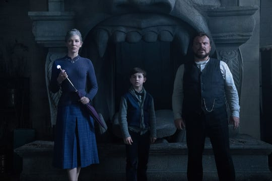 """Cate Blanchett, Owen Vaccaro and Jack Black in """"The House with a Clock in Its Walls."""" (Sept. 21)"""