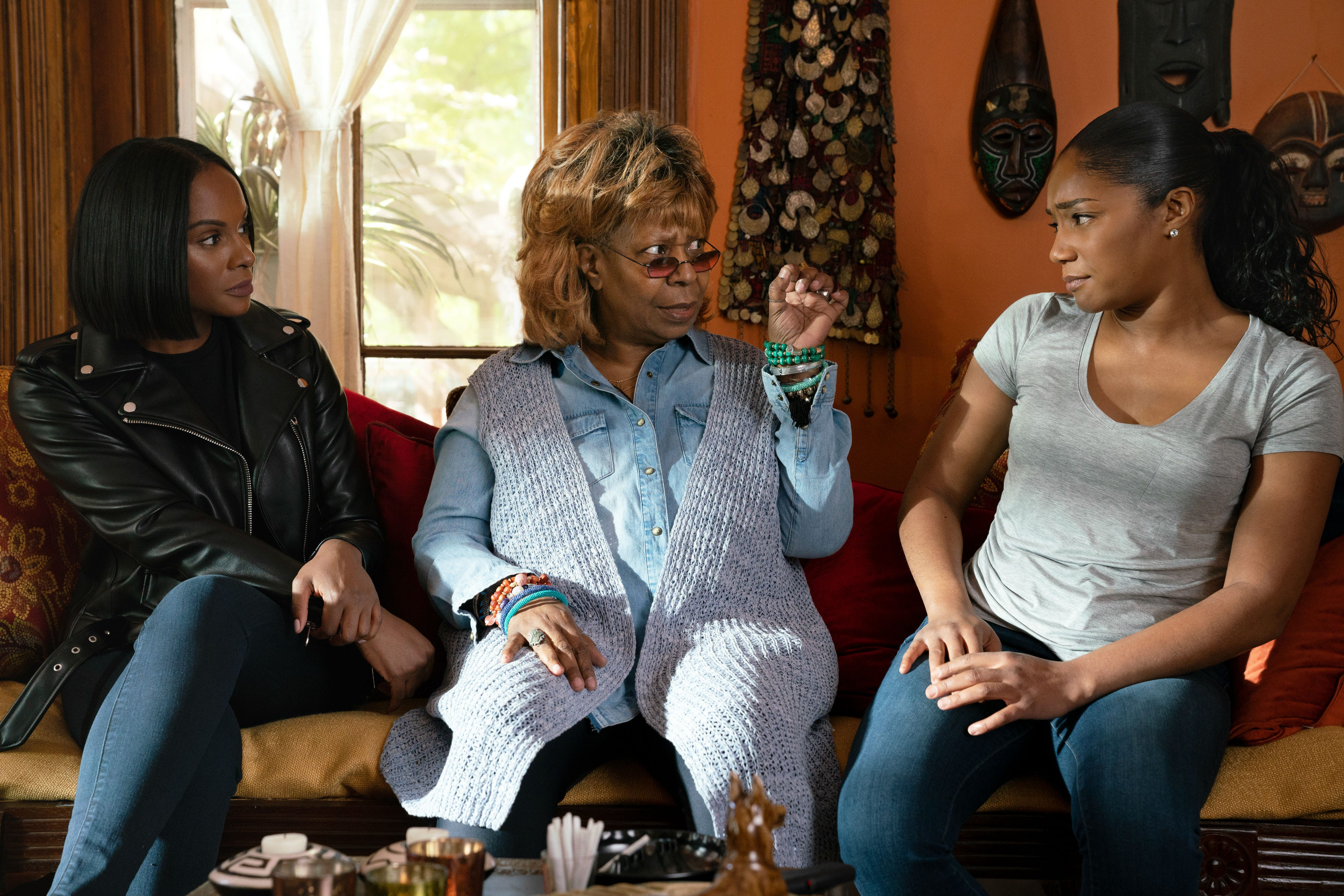 "(L-R) Tika Sumpter, Whoopi Goldberg,  and Tiffany Haddish in ""Nobody's Fool."" (Nov. 2)"