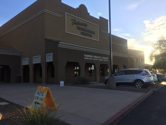 Polls opened at 6 a.m. and some Sun City residents are getting to the Fairway Recreation Center early to vote. Arizona residents will vote in their primary election, Aug. 28, 2018.