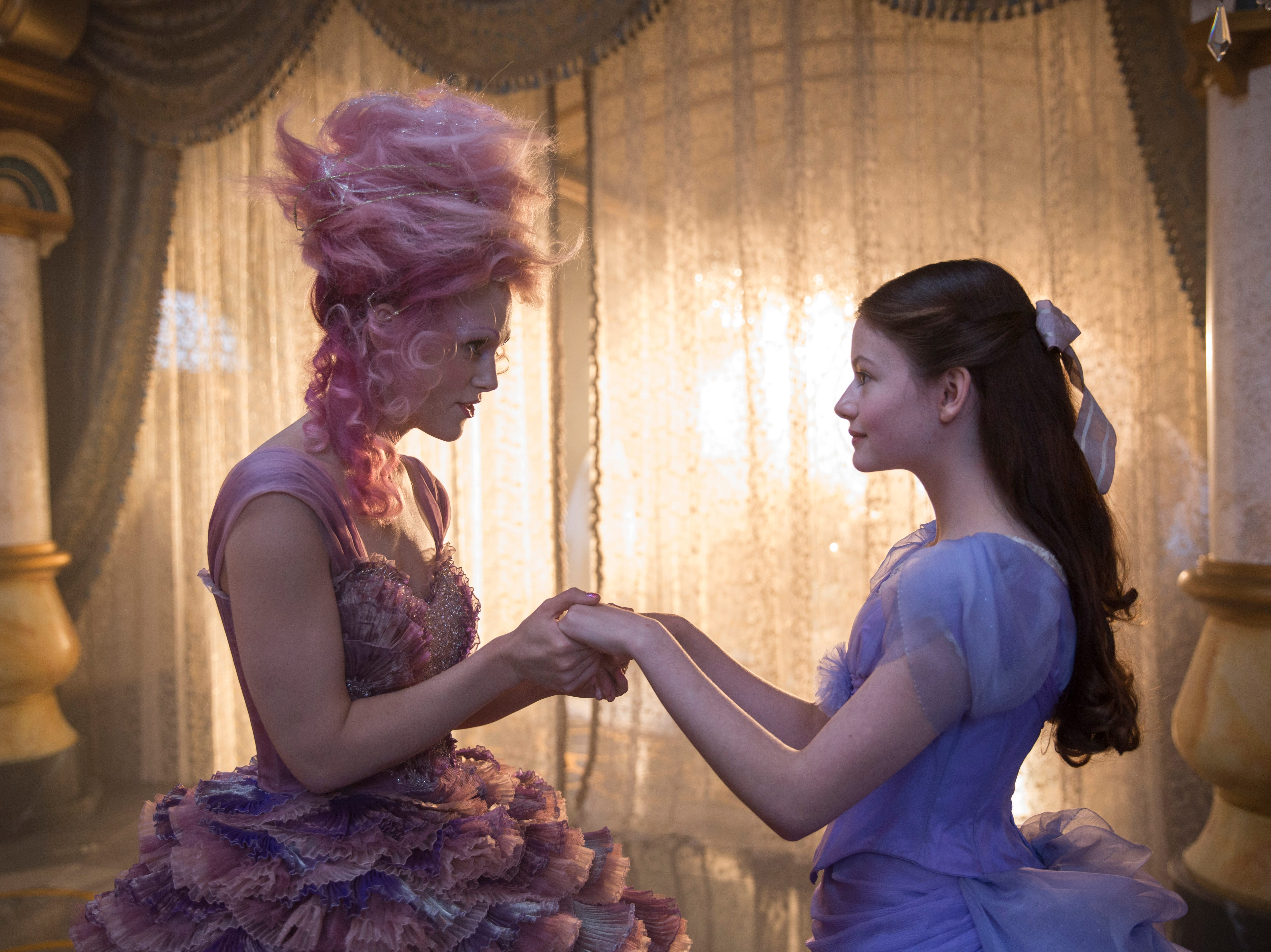 "Keira Knightley is the Sugar Plum Fairy and Mackenzie Foy is Clara in ""The Nutcracker and the Four Realms"" (Nov. 2)."