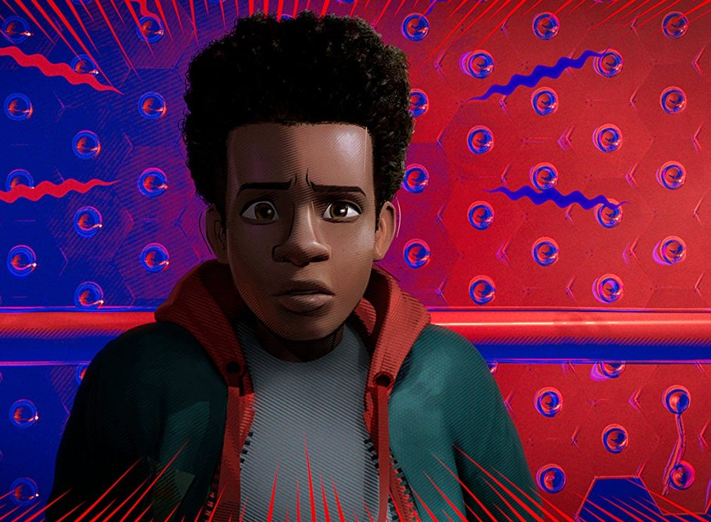 "Shameik Moore in ""Spider-Man: Into the Spider-Verse"" (Dec. 14)."