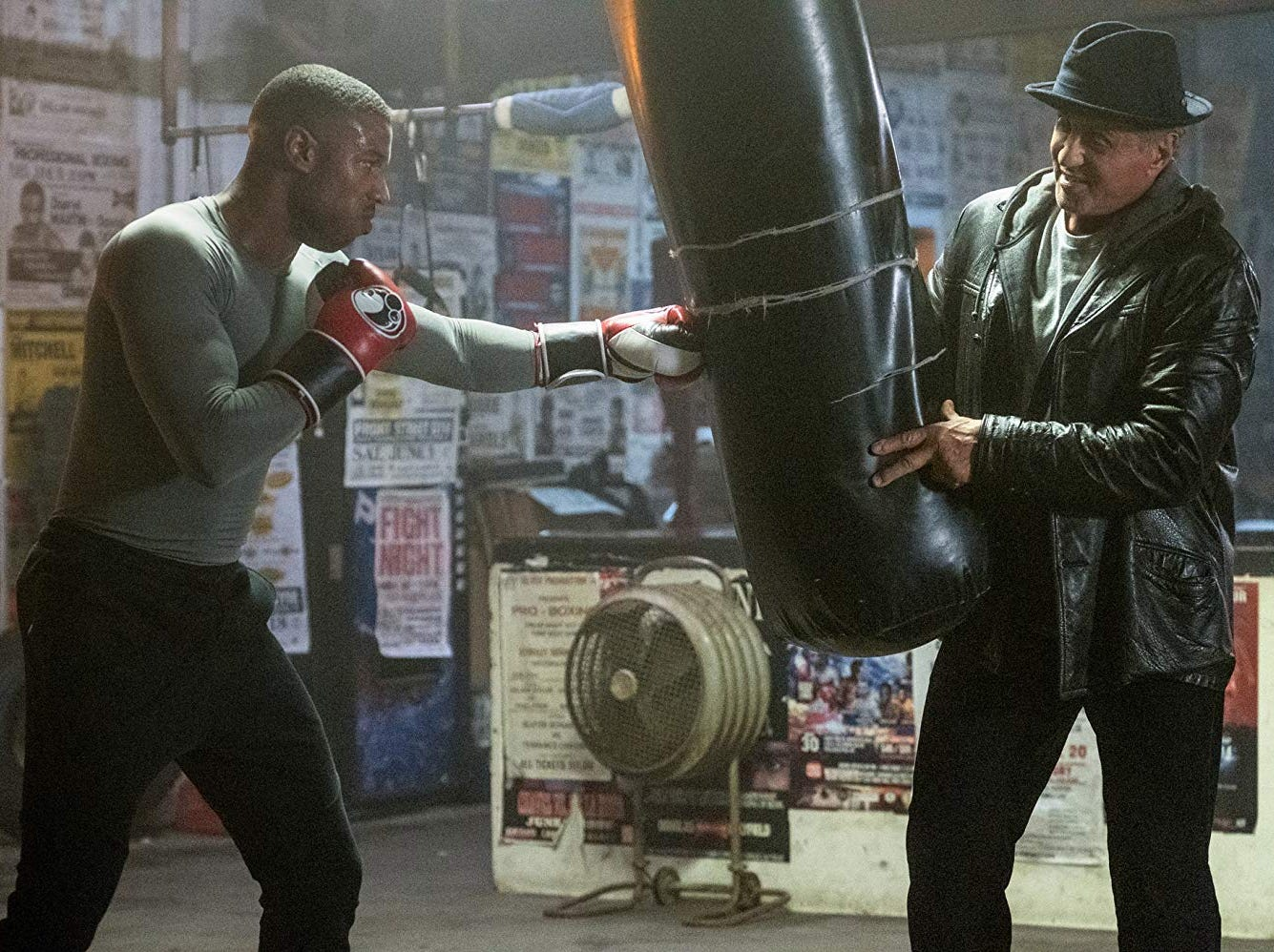 "(Left to Right) Michael B. Jordan and Sylvester Stallone in ""Creed II"" (Nov. 21)."
