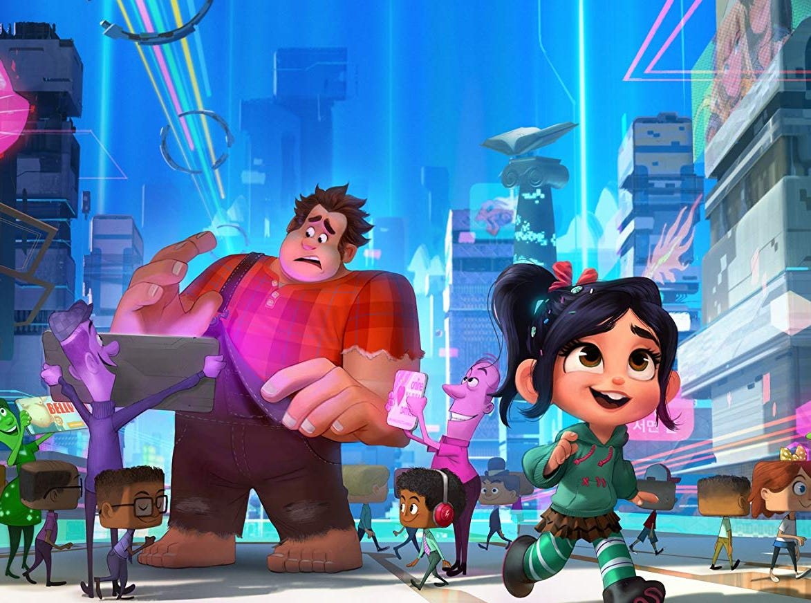 "John C. Reilly and Sarah Silverman in ""Ralph Breaks the Internet"" (Nov. 21)."