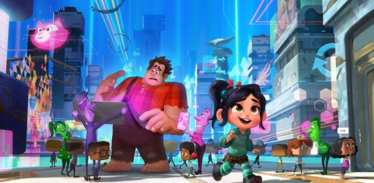 """Ralph Breaks the Internet"" (PG): Look out for plenty of Disney princesses and a cameo from the late Stan Lee in this sequel to Disney's goofy video-game animated comedy ""Wreck It Ralph."" It premieres Friday, Nov. 23, 2018."