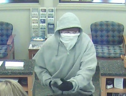 The suspect in an armed robbery of the Jonestown Bank & Trust located at 25 E. Main St., Newmanstown. The bank was robbed at 3:20 p.m. Aug. 24.