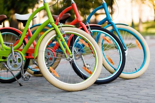 Three Beautiful Lady City Bikes