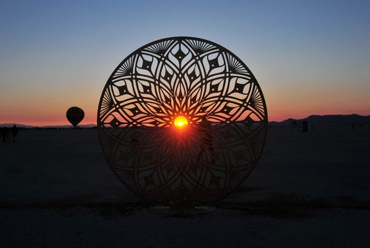 Sunrise At Burning Man 1