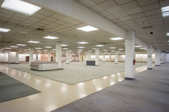 A vacant area of Elder-Beerman is seen following the store's closure on Tuesday, Aug. 28, 2018.