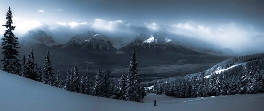 """Jeremy Slesak: """"Banff National Park in Alberta Canada. The inspiration for my photos is, """"How to have fun outside in the winter."""""""