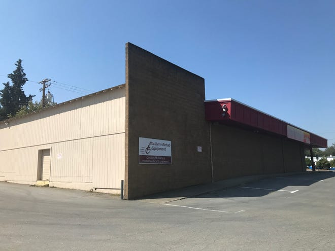 The proposed building for a commercial cannabis grower in Redding was once home to the Northern Rehabilitation business.