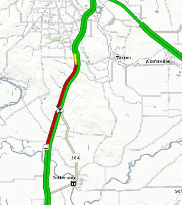 A crash blocked an I-5 lane Tuesday morning.