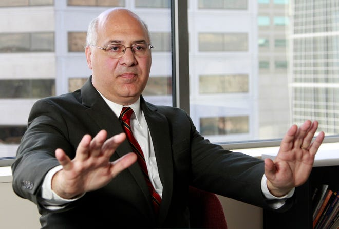In this Aug. 23, 2011, file photo, Oregon Labor Commissioner Brad Avakian speaks during an interview, in Portland.