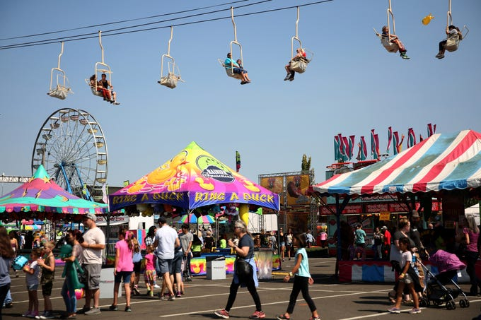 The Oregon State Fair in Salem on Tuesday, Aug. 28, 2018.