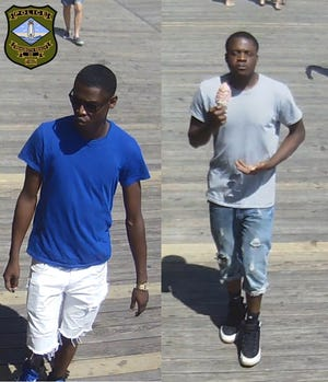 Rehoboth Beach police are looking for these two male suspects.
