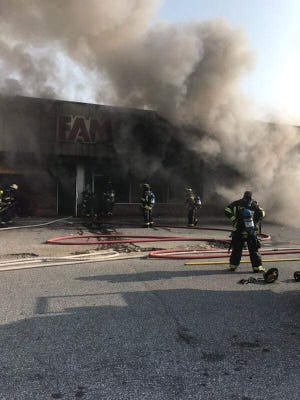Firefighters responded to a fire at a Family Dollar in Seaford on Monday, Aug. 27, 2018.