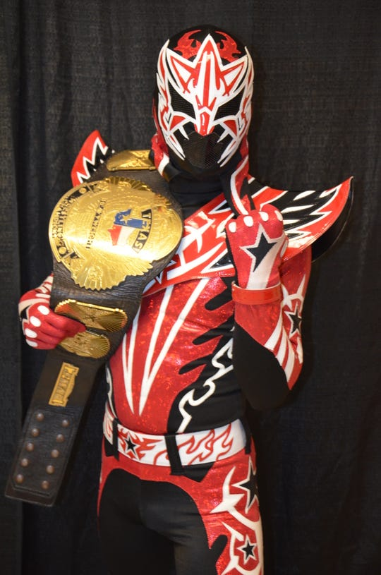 Estrella Galactica, a Lucha Libre wrestler will compete at Red River Margarita Pour Off Sept. 1.