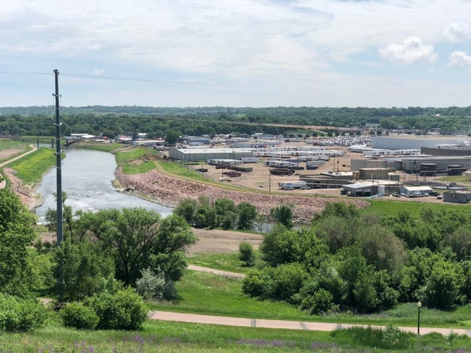 The Big Sioux River receives treated wastewater from several cities and industries located along it. The Smithfield plant in Sioux Falls dumps about two million gallons of treated wastewater into the river each day.
