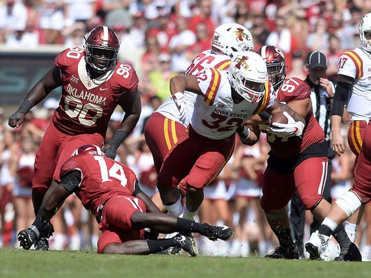 David Montgomery (32) rushed for 1,146 yards in 2017