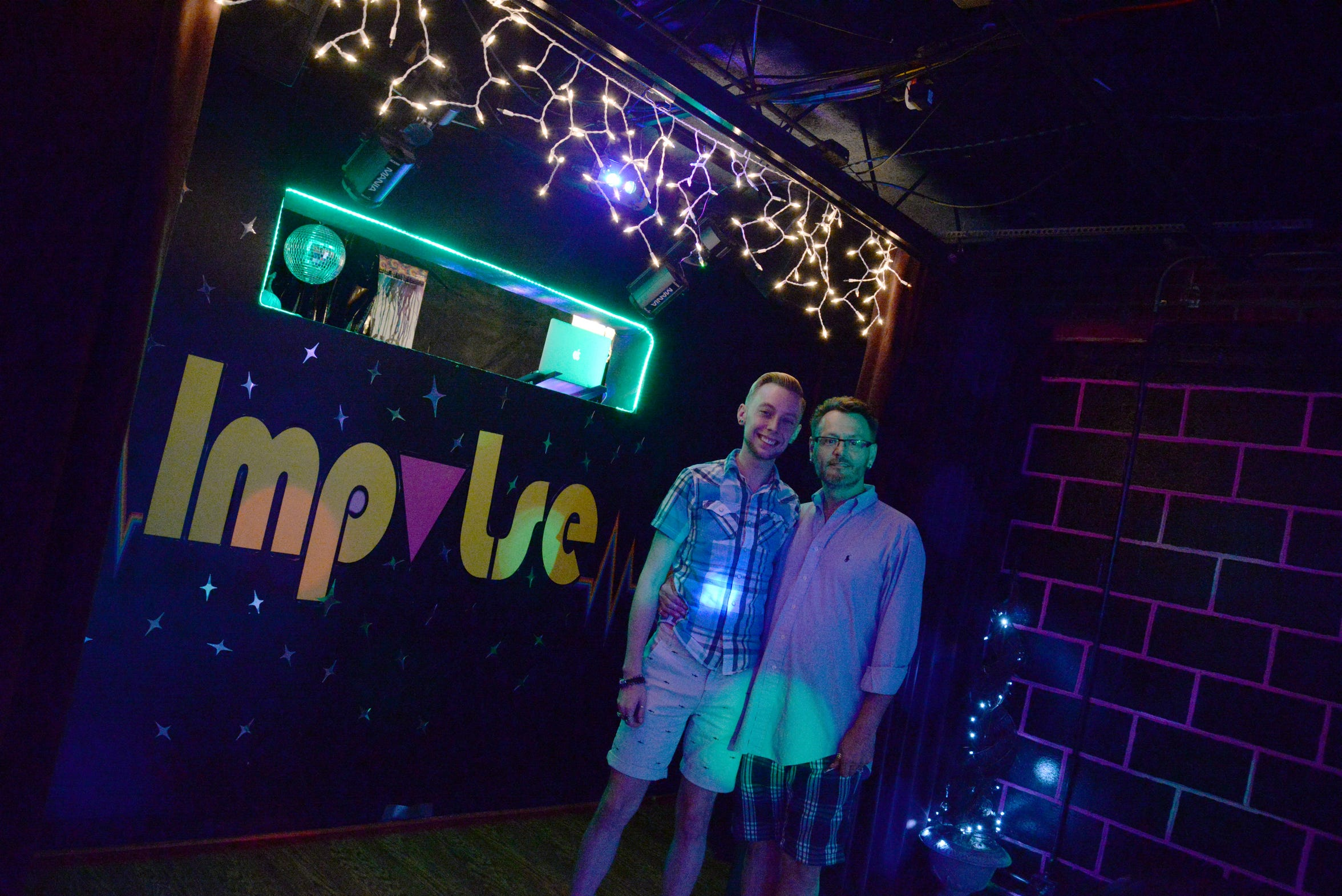 Inside Impulse Social Gay Club in Charlottesville with co-owners Angus Butcher and Kevin Morris-Lewis. The club recently received permits to begin construction at a Waynesboro location on East Main Street.