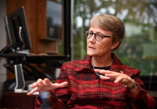 St. Cloud State University President Robbyn Wacker talks about her mission and vision for the campus community Tuesday, Aug. 28.