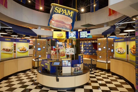 An interactive exhibit at the SPAM Museum in Austin, Minn.