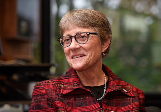 St. Cloud State University President Robbyn Wacker talks about her position Tuesday, Aug. 28, and what she likes to do in her free time.