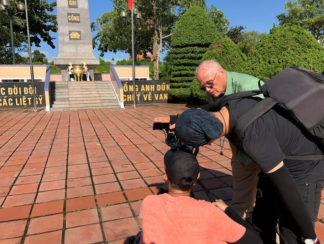 """Student filmmakers in Vietnam shoot footage for the documentary """"Dreams of the Black Echo."""""""