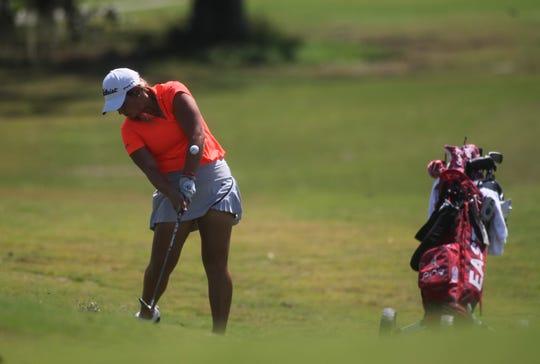 Aucilla Christian's Megan Schofill plays a round at Southwood Golf Club.