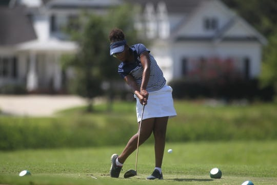 Maclay's Annika Dean plays a round of golf at Southwood Golf Club.
